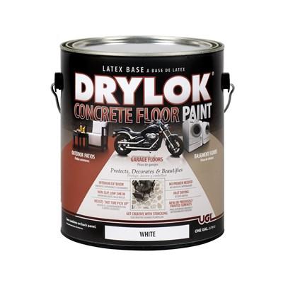 DRYLOK® LATEX CONCRETE FLOOR PAINT White Краска для полов на латексной основе белая 3,78л - фото 4494