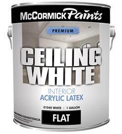 """Потолочная белая"" интерьерная матовая краска McCormick Paints ""Ceiling White"" Interior Flat Acrylic Paint.  3,78л - фото 4516"