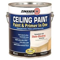 Краска ZINSSER для потолка самогрунтующаяся Ceiling Paint - Paint and Primer in One 3,760 мл - фото 4520