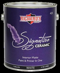 Интерьерная краска с керамическими частицами Richard's Signature Interior Acrylic Ceramic Matte Paint 8 л - фото 4990