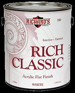 Матовая  акрил-латексная эмаль  Richard's Rich Classic Acrylic Flat Finish - фото 5130