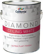 Краска для потолка, керамическая - California Paints Diamond Ceiling Paint White Ultra Flat Finish