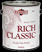 Матовая  акрил-латексная эмаль  Richard's Rich Classic Acrylic Flat Finish
